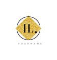 il letter logo with golden foil texture vector image