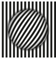 images in style op art black and white vector image