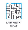 labyrinth maze thin line icon sign symbol vector image vector image