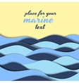 marine themed background blue waves vector image vector image