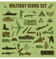 Military icon set Constructor kit vector image
