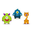 monsters set vector image vector image