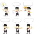 nerd boy customizable mascot 21 vector image vector image