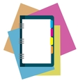 notepad paper sheet whit place for text vector image vector image