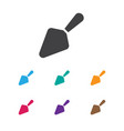 of food symbol on trowel icon vector image
