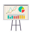 office board with charts and diagrams icon vector image