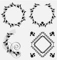 Ornament frame design resource vector image vector image