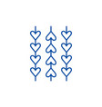 ornament from hearts line icon concept ornament vector image