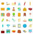 postal correspondence icons set cartoon style vector image vector image