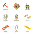 produce mineral icons set cartoon style vector image vector image