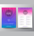 purple flyer design template minimal abstract vector image vector image