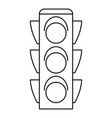 regulation traffic lights icon outline style vector image vector image