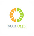 round eco geometry logo vector image