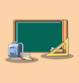 school objects design vector image vector image
