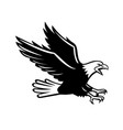 screaming eagle side retro vector image vector image