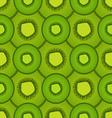 Seamless pattern of kiwi fruit vector image