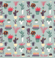 seamless pattern with collection hand drawn vector image vector image