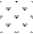 seamless pattern with cute koala for design web vector image vector image
