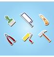 set of color icons with tools related vector image