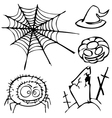 set of sketches for the design in the style of vector image
