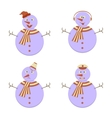 Set of Snowmans vector image vector image
