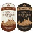 set of wine labels with european rural landscape vector image vector image