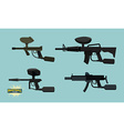 set paintball guns vector image