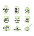 set vintage coffee badges labels logos vector image