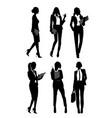 silhouettes businesswomen vector image vector image