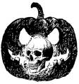 Skull pumpklin vector image vector image