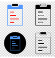 text pad eps icon with contour version vector image vector image