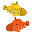 Toy yellow and orange submarine isolated vector image vector image