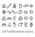 twentyfour halloween icons collection vector image vector image