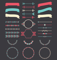 Various elements for design vector image vector image