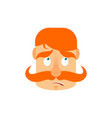 vintage irishman with red mustache surprise emoji vector image vector image