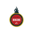 vintage motorcycle badge theme vector image vector image