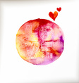 Watercolor colorful blot vector image vector image