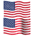 waving hand draw sketch flag of united state vector image vector image