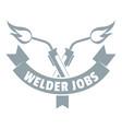 welder job logo simple gray style vector image vector image