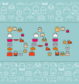 word bag with bags icons vector image vector image