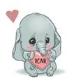 cute little cartoon elephant vector image