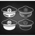 Graphic captain cap vector image