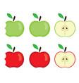 apples bitten vector image