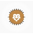 Lion head Hand Drawn Design Element in Vintage vector image