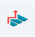 3d isometric graph isometric graph in trendy flat vector image vector image