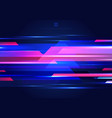 abstract blue and pink geometric motion with vector image