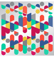 abstract geometric graphic colorful circle vector image vector image