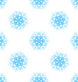 Abstract seamless pattern with snowflake vector image vector image
