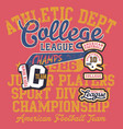 american football kid college league champion vector image