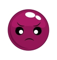 angry face cartoon expression icon graphic vector image vector image